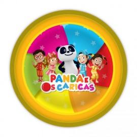 Pratos Panda e os Caricas - 23 cm