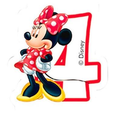Vela de Aniversário Amigos Mickey Mouse - N.º 4