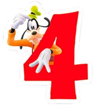 Vela de Aniversário Mickey e Amigos - N.º 4