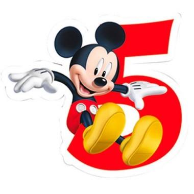 Vela de Aniversário Mickey Mouse - N.º 5