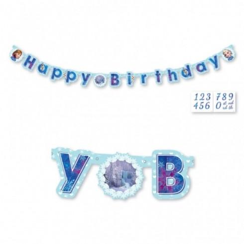 """Faixa """"Happy Birthday"""" - Frozen"""