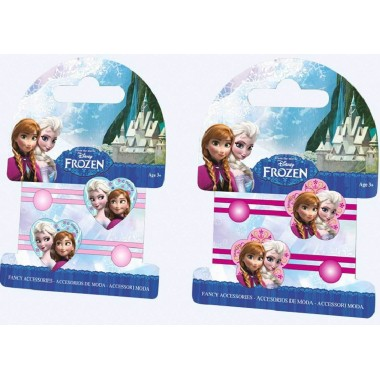 Elásticos p/ cabelo c/ coração - Frozen