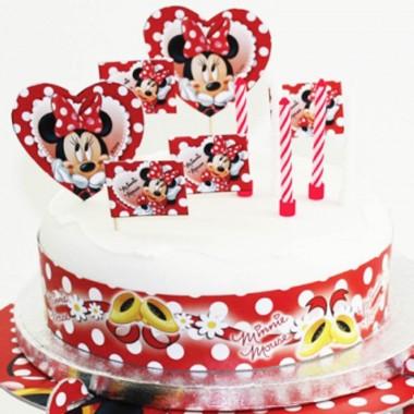 Kit decoração bolo Minnie