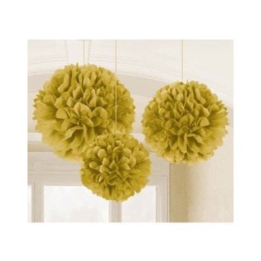 Pompons Decorativos Ouro / Prata