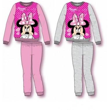 Pijama Cardado - Minnie Mouse 6/12 Anos