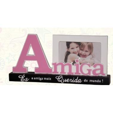 """Moldura / Porta-Fotos - """"Amiga"""""""