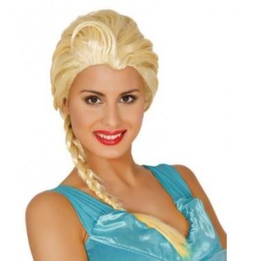 Peruca de Carnaval - Princesa do gelo Elsa