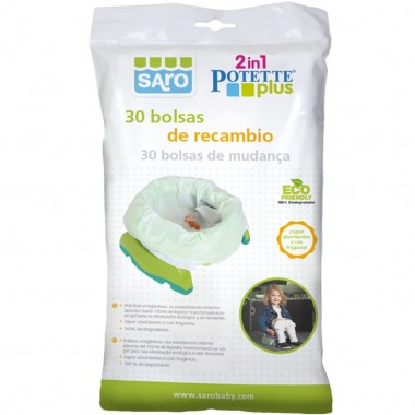 30 bolsas para Bacio / Redutor 2in1 Potette Plus - Saro