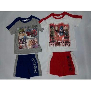 Conjunto de T-shirt + calção - Avengers