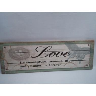 Quadro / Placa de Madeira Decorativa - 20 x 60 cm