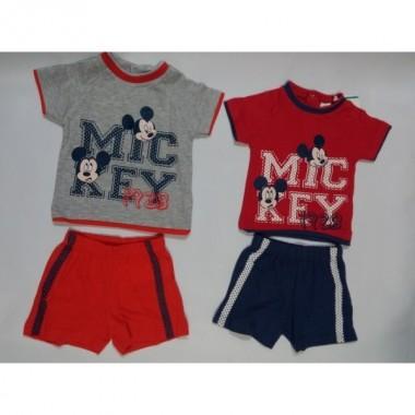 Conjunto bebé T-Shirt + Calção - Mickey Mouse