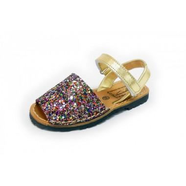 Menorquinas Criança - Glitter Multicor