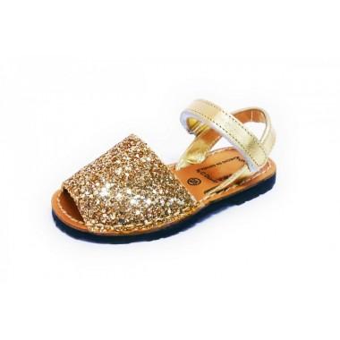 Menorquinas Criança - Glitter Ouro