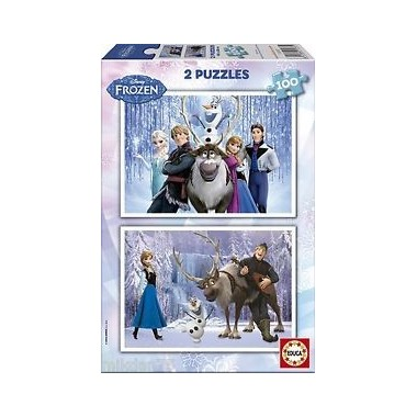 Puzzle 2 x 100 peças - Frozen - Educa