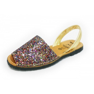 Menorquinas Adulto - Glitter Multicor