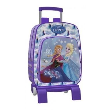 Mochila Escolar com trolley - Frozen