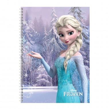 Caderno com argolas Pautado A4 - Frozen