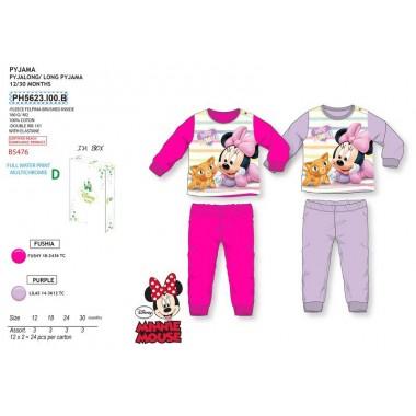 Pijama Cardado Bebé - Minnie