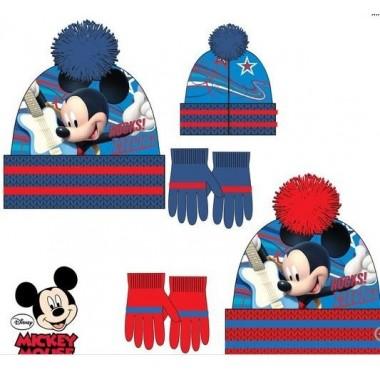 Gorro + Luvas - Mickey