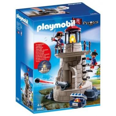 Playmobil - Torre de vigia dos soldados com farol