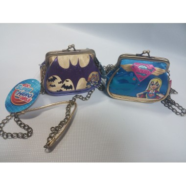 Mala corrente / Porta Moedas Super Hero Girls - Batman - Super Mulher