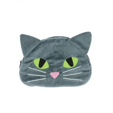 Estojo Gato em peluche