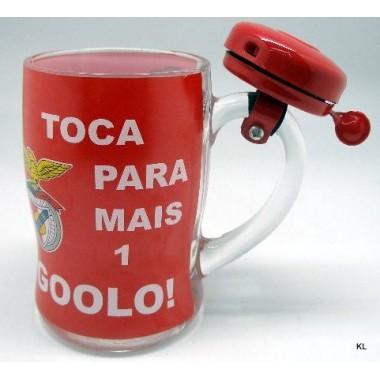 """Caneca cerveja c/campainha """"Golo"""" - Benfica"""
