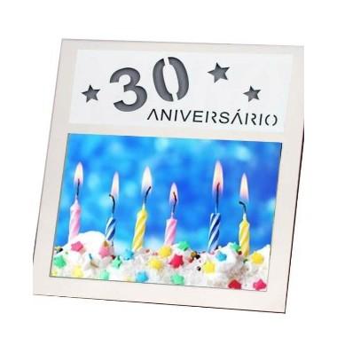 """Moldura / Porta-fotos  """"30 Anos"""""""