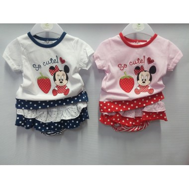 Conjunto T-shirt + Legging Bebé -  Minnie