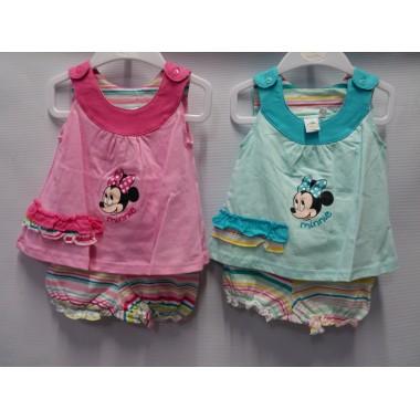 Conjunto T-shirt + Calções Bebé -  Minnie