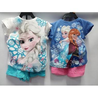 Conjunto T-Shirt + Calção - Frozen