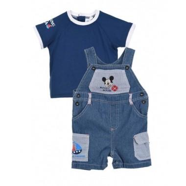 Conjunto T-shirt + Jardineiras Bebé -  Mickey