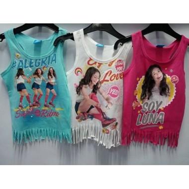 T-shirt alças Luna
