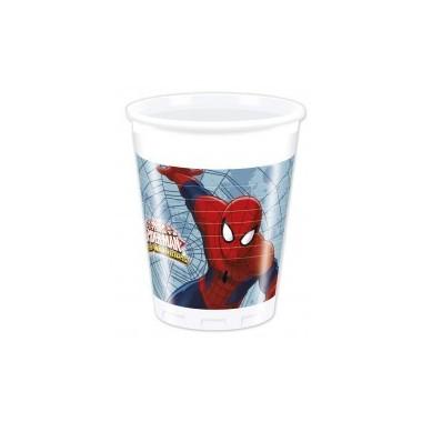 Copos festa Homem Aranha