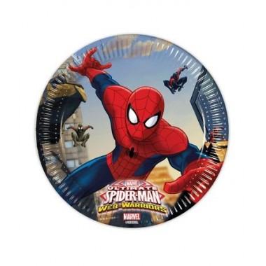 Pratos Homem Aranha - 20 cm