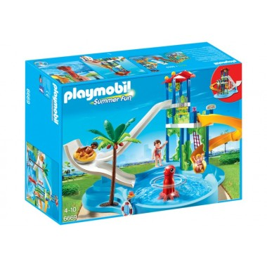 Playmobil - Parque Aquático com Escorregas