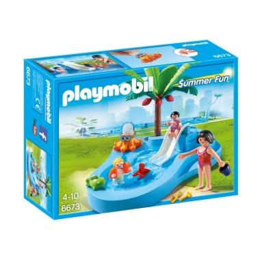 Playmobil - Piscina para Bebés com Escorrega