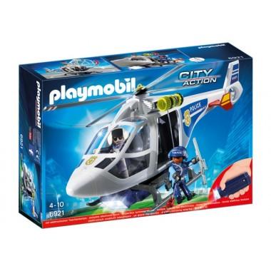 Playmobil - Helicóptero da Polícia com luzes LED