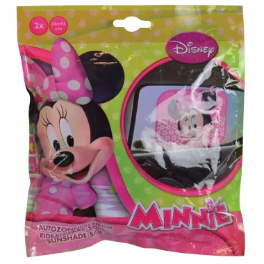 Tapa Sol Minnie Mouse para Carro - Rosa