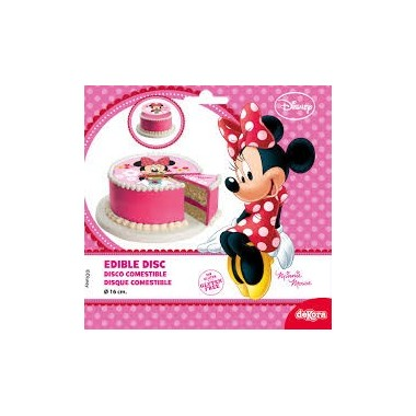 Disco de açucar decorativo p/ bolo Minnie