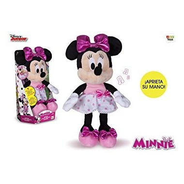 Peluche Minnie com sons - 30 cm