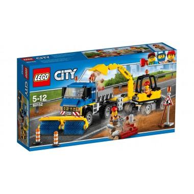LEGO City - Carro Varredor e Escavadora
