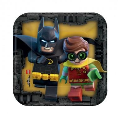 Pratos quadrados Lego - 18 cm