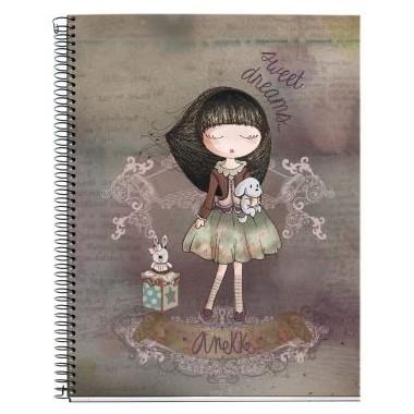 Caderno com argolas Pautado A4 - Anekke