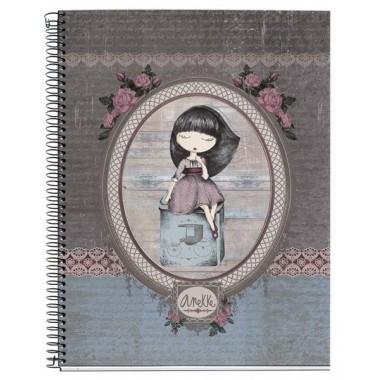 Caderno com argolas Pautado A5 - Anekke