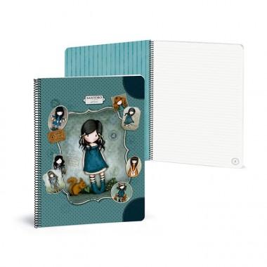 Caderno Argolas Largas Pautado A4 - Gorjuss