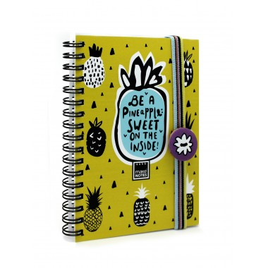 Bloco A6 - SWEET PINEAPPLE - Make Notes