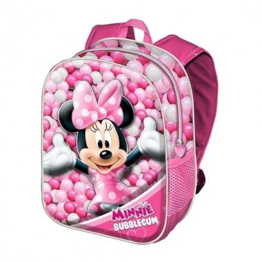 Mochila Escolar3D Minnie Disney Bubblegum Adaptável  38cm