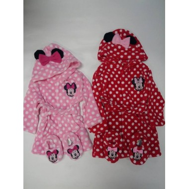 Robe de bebé Minnie Mouse com orelhas