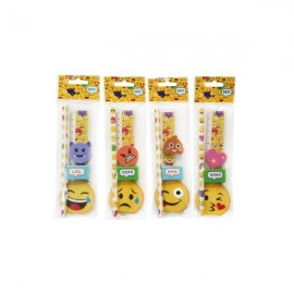 Set 5 peças Emoji / Smile